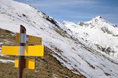 Mountain signposts — Stock Photo