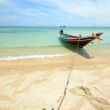 Boat floating on transparent water — Stock Photo #38815117