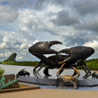 Stock Photo: Krabi's crabs sculpture