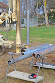 Borehole for soil testing — Stock Photo