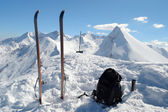 Ski touring equipment — Stock Photo