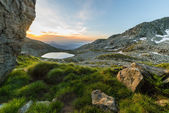 Alpine landscape at sunrise — Stock Photo