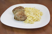 Fried meat patties on Russian мясо жаренное по русски котлеты — Stock Photo