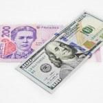 Постер, плакат: Ukrainian hryvnia U S dollar Euro money