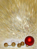 Red gold and white balls on the gold backgrownd — Stock Photo