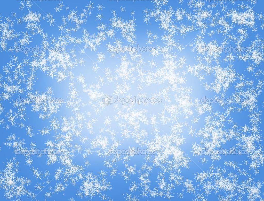 淡蓝色幻想抽象雪背景