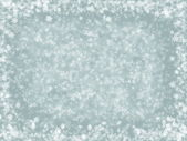 Light gray fantasy Christmas background with white snowflakes — Stock Photo