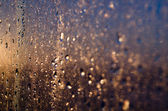 Morning light to the wet window — Stock Photo