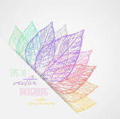 Abstract colorful leaves vector — Stock Vector