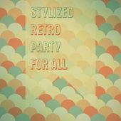 Posterr for parties vector — Stock Vector