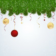 Abstract Christmas background with balls vector — Stock Vector