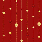 Abstract Christmas background with stars and balls vector — Vecteur