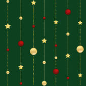 Abstract Christmas background with stars and balls vector — Stock Vector