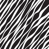 Abstract black and white background of wavy lines vector — Stock Vector
