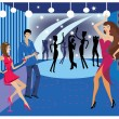 Dance nightclub and bar — Stock Vector