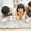 Royalty-Free Stock Photo: Japanese family together on the floor