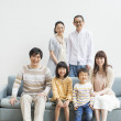 Royalty-Free Stock Photo: Japanese family gather at living room