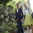 Japanese couple go on a trip - Foto Stock