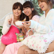 Japanese girls having snacks - Photo