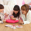 Royalty-Free Stock Photo: Japanese girls playing cards