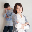 Young couple having problems in relationship - Stock Photo