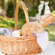 French breads in a basket - Stock Photo