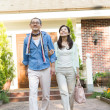 Royalty-Free Stock Photo: Senior couple leaving home