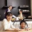 Royalty-Free Stock Photo: Family in a kitchen