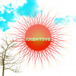 Kreative Sun — Stock Photo