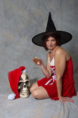 X-mass witch — Stock Photo