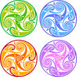 Stock Photo: Colored celtic triskels