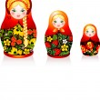 Russian tradition matryoshka dolls — Stock Vector #14402025