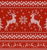 Pullover mit hirsch — Stockvektor