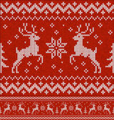 Sweater with deer — Stok Vektör