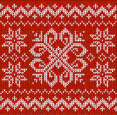 Christmas ornamental embroidery — Vector de stock