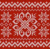 クリスマスの装飾的な刺繍 — ストックベクタ