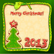 Christmas and New Year 2013 greeting card — Stock Photo #14668109