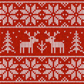 свитер с оленями — Cтоковый вектор