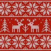 与鹿毛衣 — 图库矢量图片