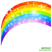 Vector background with rainbow and lucky clover — Stock Vector