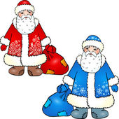 Russian Santa Claus - Grandfather Frost — Stock Vector