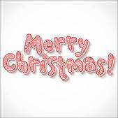 Süslü merry christmas işareti yazı ver — Stok Vektör