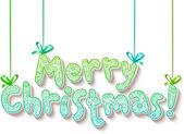 Hand belettering sierlijke merry christmas teken — Stockvector