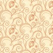 Hand-drawing flower pattern - Image vectorielle