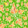 Abstract ornate shining flower seamless pattern — Imagen vectorial