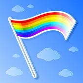 Vector rainbow flag — Stock Vector