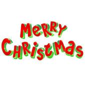 手の 3 d メリー クリスマス記号をレタリング — ストックベクタ