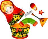 Russian tradition matryoshka doll — Stock Vector