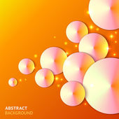 Abstract paper bubbles background — Stock Vector