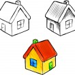 Royalty-Free Stock Vector Image: Cute little house vector sketch illustration